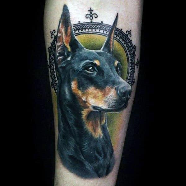 Creative 3d Dog Tattoo For Guys