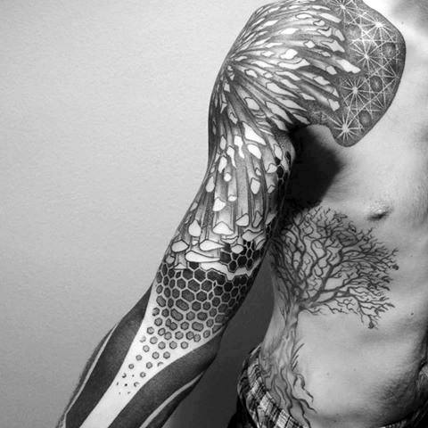 creative-3d-geometric-sleeve-tattoos-for-men