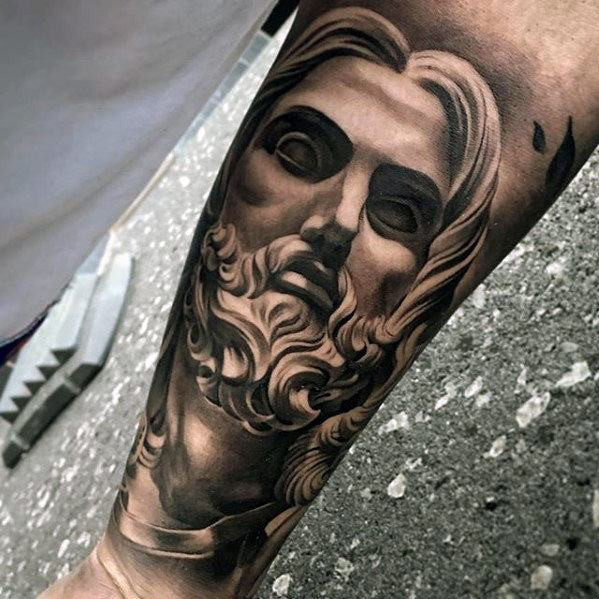 Creative 3d Jesus Tattoos For Men Forearm Sleeve