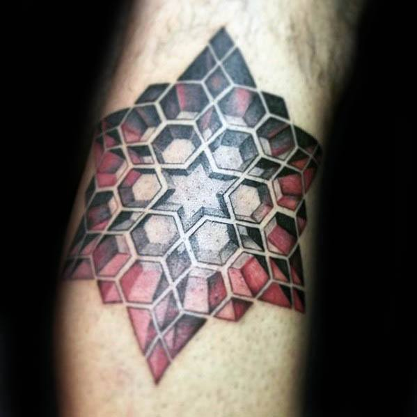 Creative 3d Star Tattoos For Men On Arm