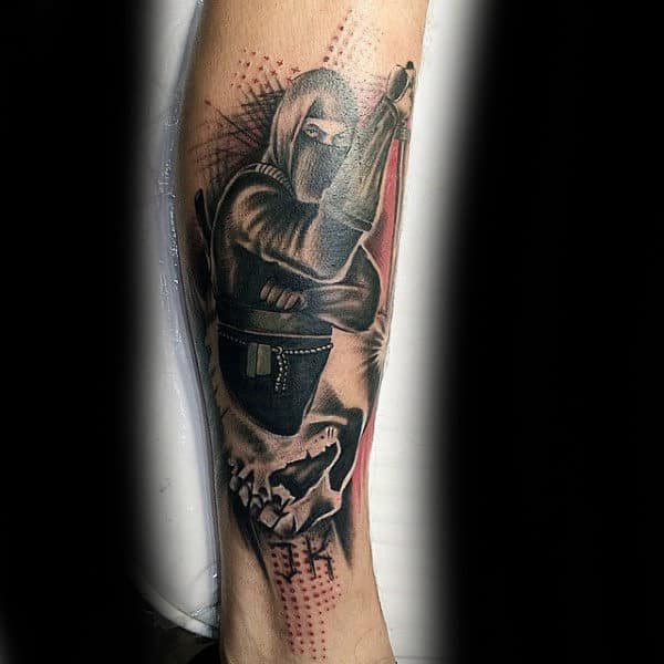 Creative Abstract Guys Ninja Tattoo Inspiration