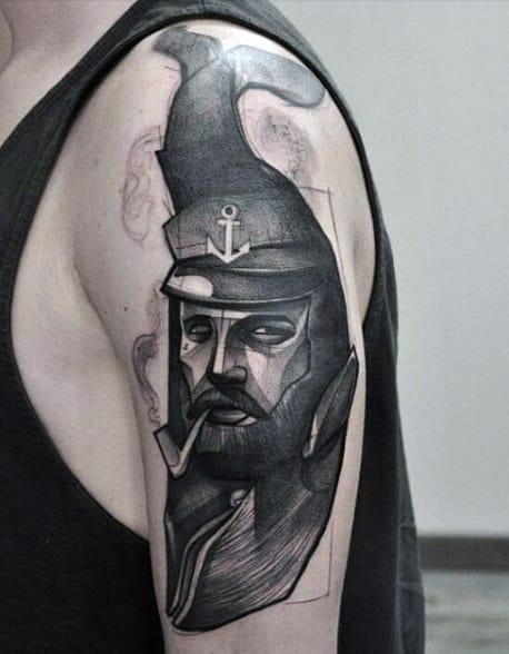 Creative Abstract Sailor Tattoo Mens Art On Arm