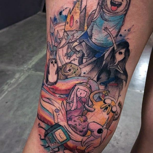 60 Adventure Time Tattoo Designs For Men - Animated Ink Ideas