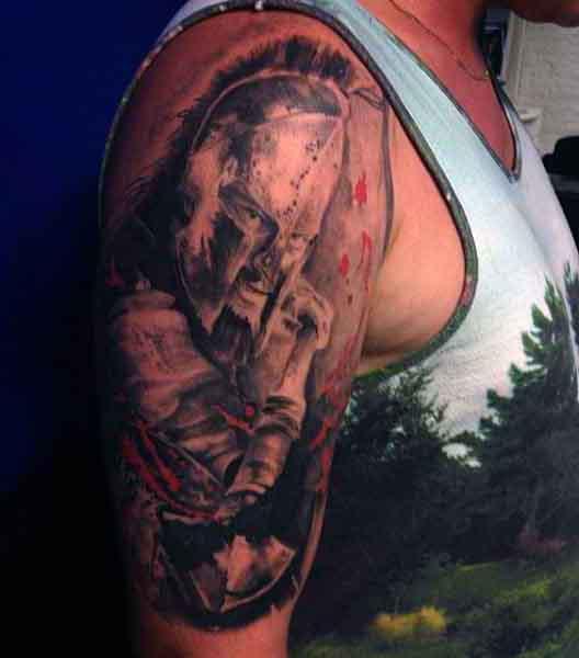 Creative Arm Spartan Men's Tattoos