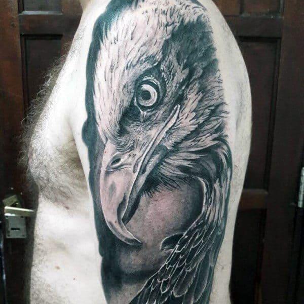 Creative Badass Eagle Tattoos For Guys