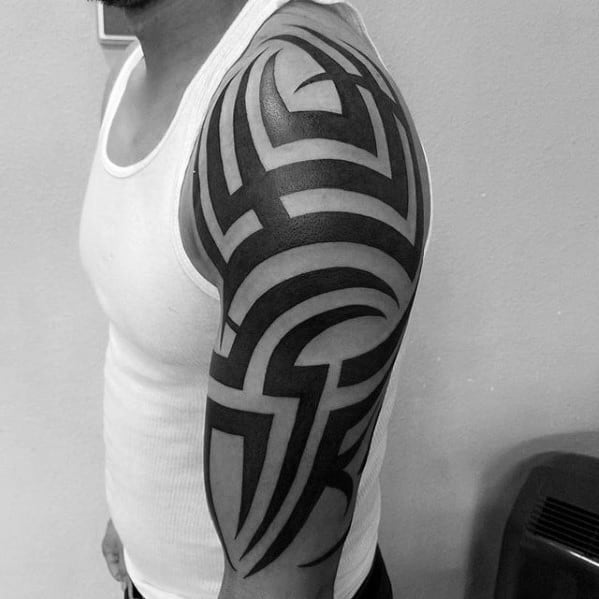 Creative Badass Tribal Tattoos For Men On Arm
