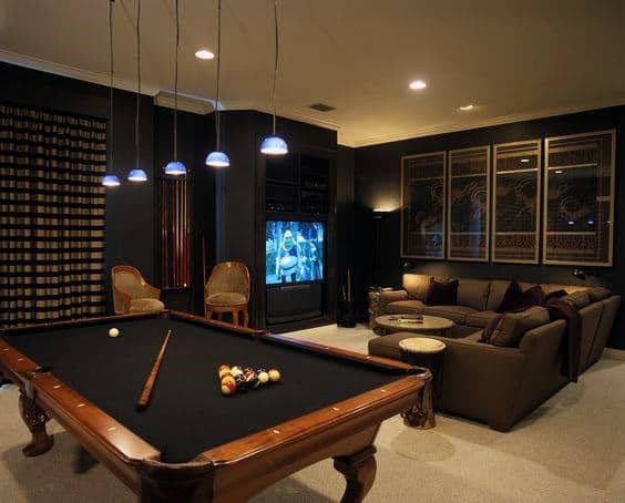 Genial Creative Basement Game Room Ideas For Gentlemen