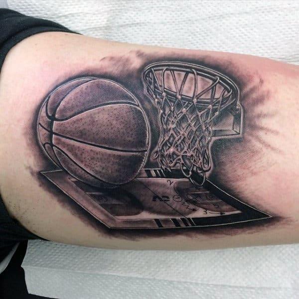 Creative Basketball Tattoos For Men