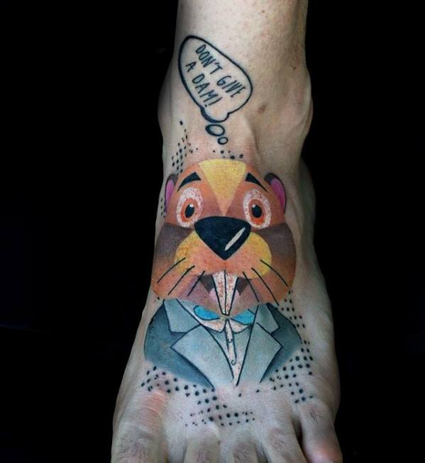 Creative Beaver Tattoos For Men