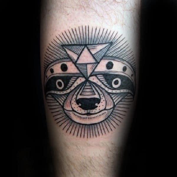 Creative Black Ink Sloth Tattoo On Guys Inner Forearm