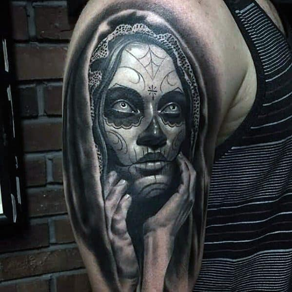 Creative Catrina Tattoos For Men