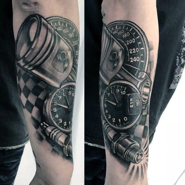 Creative Checkered Flag Tattoos For Guys