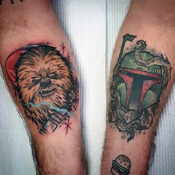 Creative Chewbacca Inner Forearm Tattoos For Guys