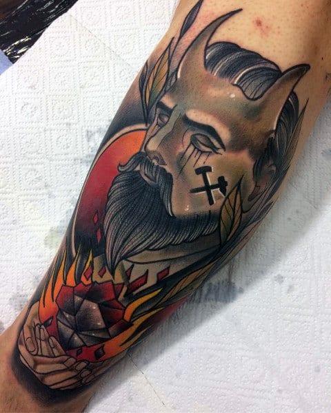 Creative Coal Mining Tattoos For Guys