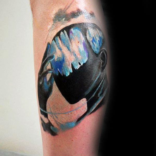 Creative Consciousness Tattoos For Men On Leg Calf