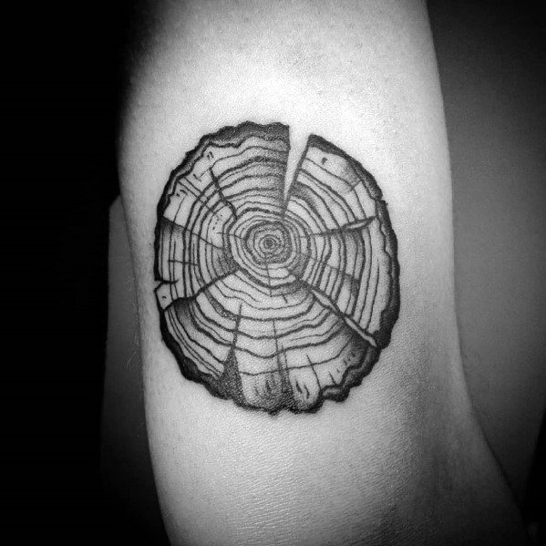 Creative Cool Tree Trunk Arm Tattoos For Guys