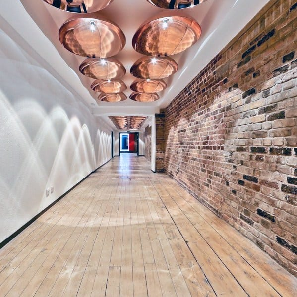 Creative Copper Interior Ideas For Hallway Lighting
