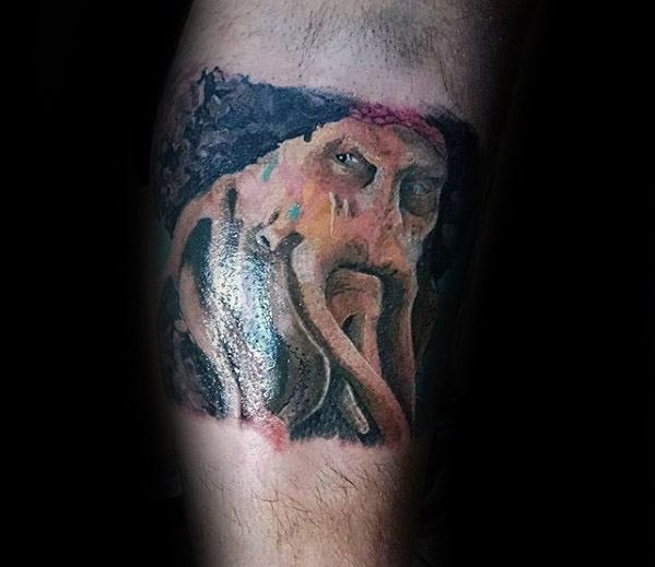 Creative Davy Jones Tattoos For Men Forearm Band