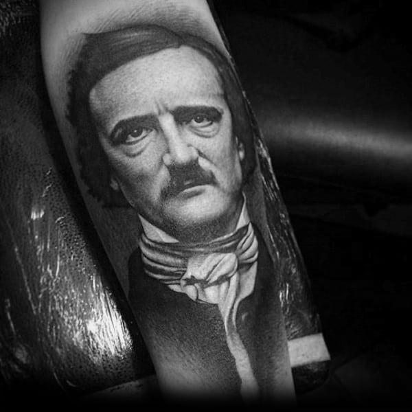 Creative Edgar Allan Poe Tattoos For Guys