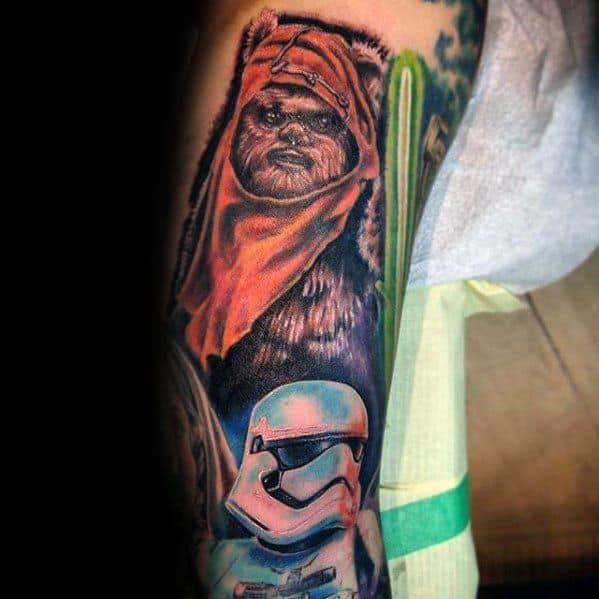 Creative Ewok Tattoos For Men