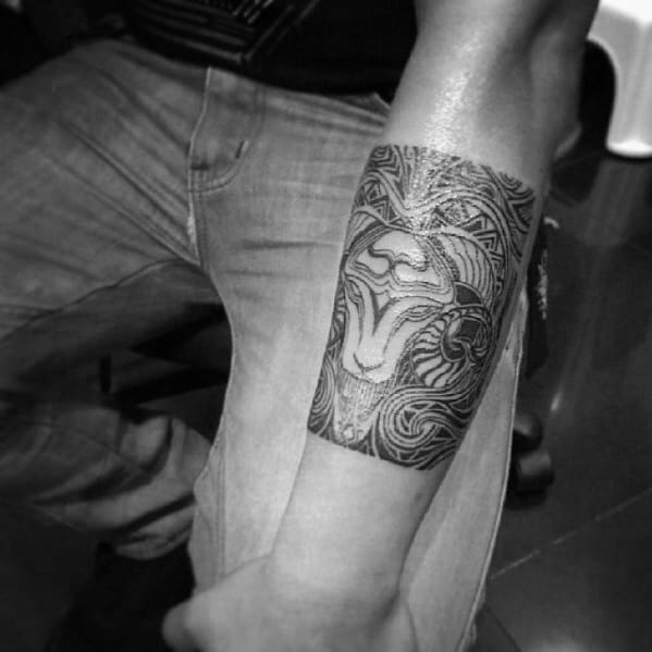 Creative Forearm Band Tattoo Design Ideas For Men