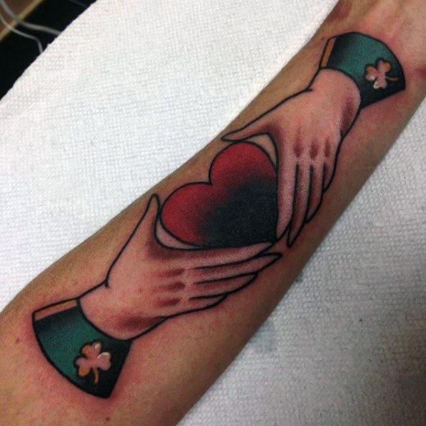 Creative Forearm Claddagh Guys Tattoos
