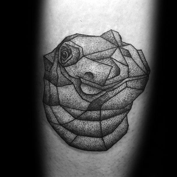 Creative Forearm Geometric Hippo Tattoos For Men