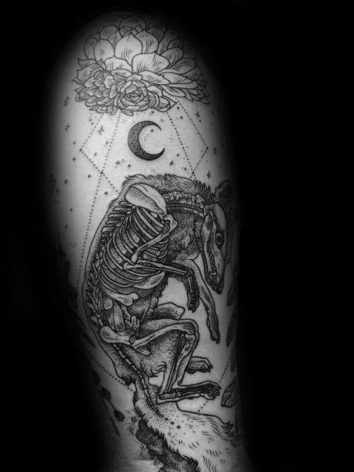 Creative Fox Skull Tattoos For Men