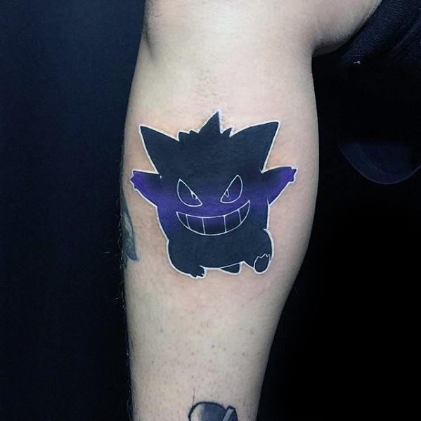Creative Gengar Pokemon Tattoos For Men