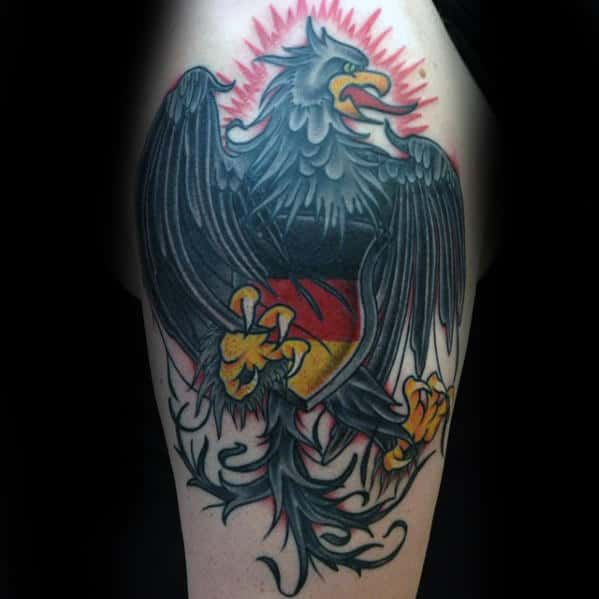 50 German Eagle Tattoo Designs For Men
