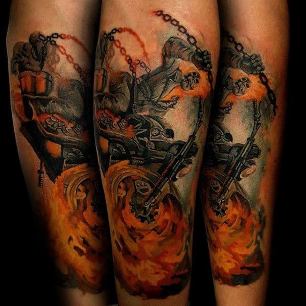 Creative Ghost Rider Tattoos For Men