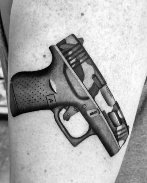 Creative Glock Tattoos For Guys