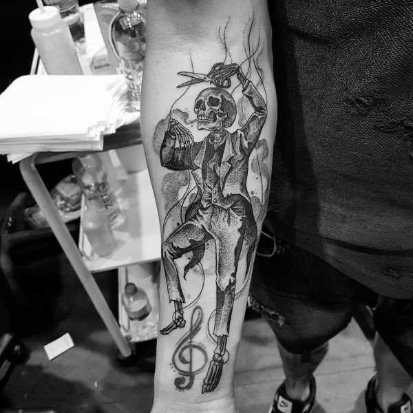Creative Gothic Tattoos For Guys
