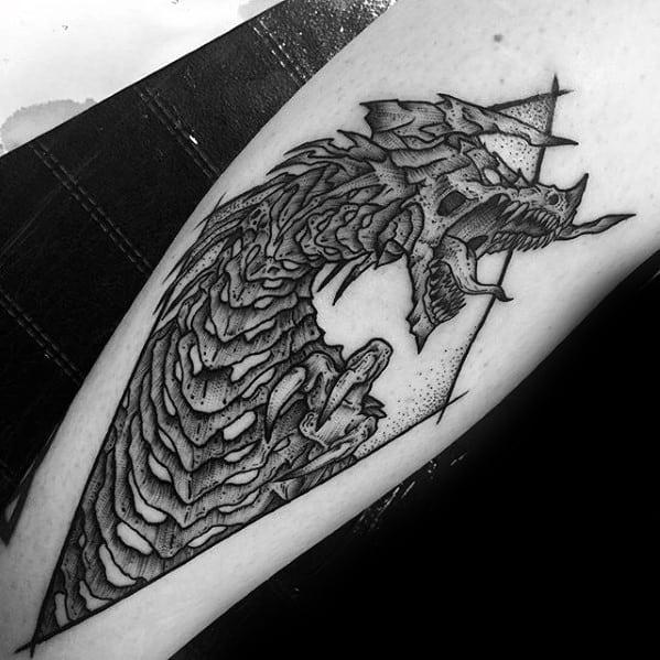 Creative Guys Detailed Dragon Inner Forearm Tattoo
