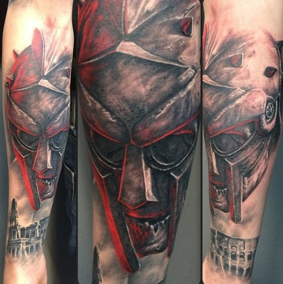 Red Creative Guy's Gladiator Tattoos