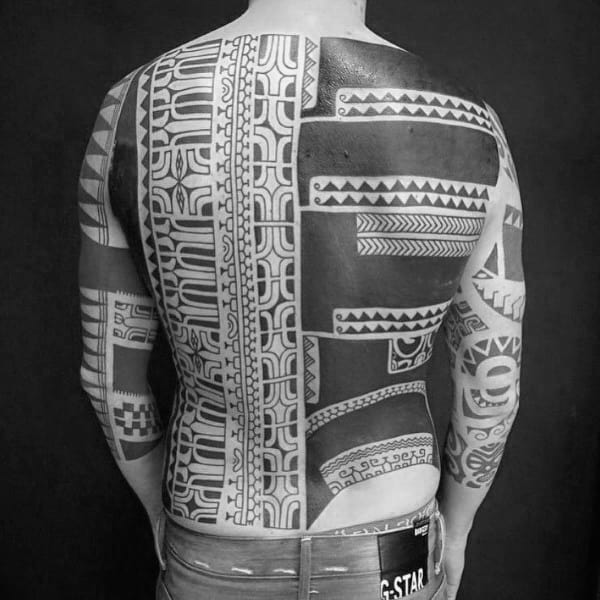 Creative Guys Tribal Back Tattoos