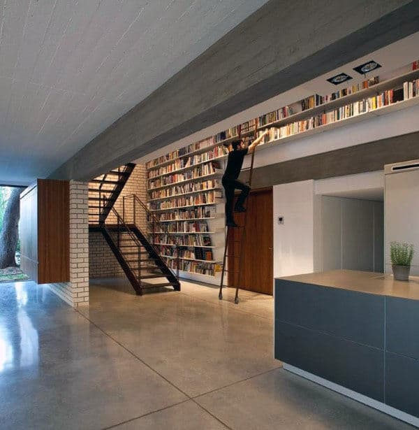 Creative Home Library With Simplistic Design
