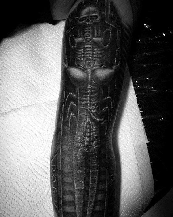 Creative Hr Giger Tattoos For Men
