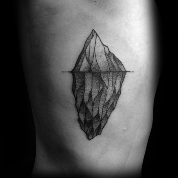 Creative Iceberg Tattoos For Men