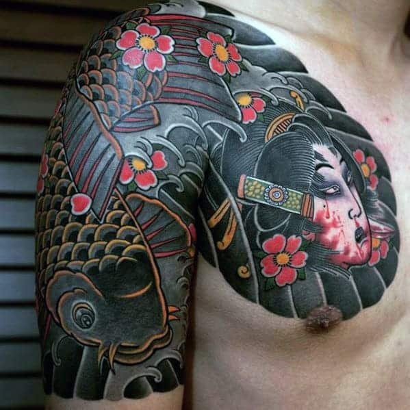 creative-japanese-male-upper-chest-tattoos