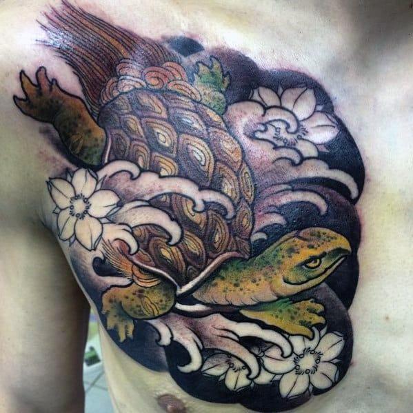 Creative Japanese Turtle Tattoos For Guys