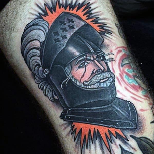 Creative Knights Hospitaller Tattoo For Men