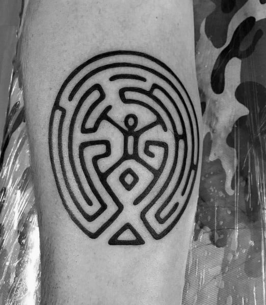 Creative Labyrinth Tattoos For Guys