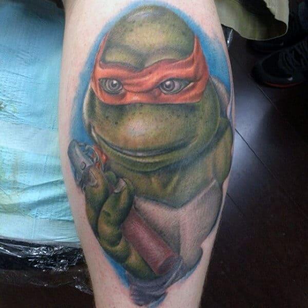 70 Teenage Mutant Ninja Turtle Tattoo Designs For Men Hero Ink