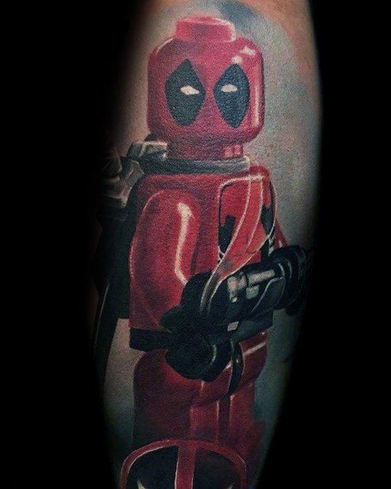 Creative Lego Tattoos For Men