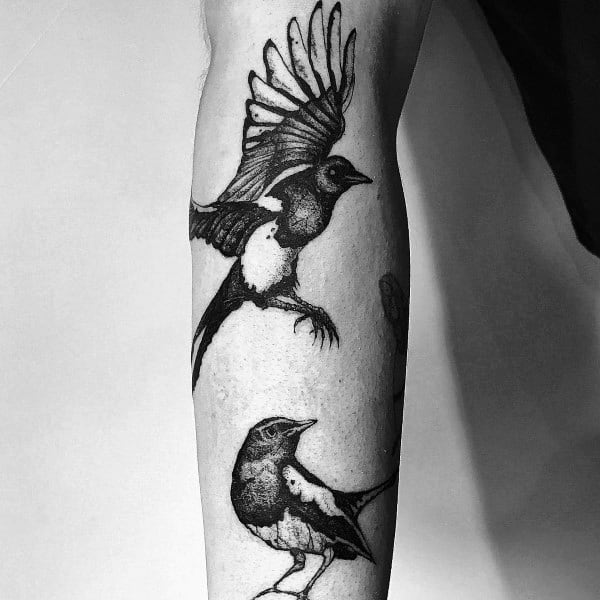 Creative Magpie Tattoos For Guys