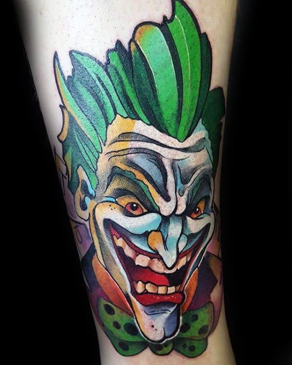 Creative Male Joker Inner Forearm Tattoo Ideas