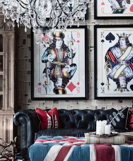 Creative Man Cave Decor Poker Cards Framed Wall Art