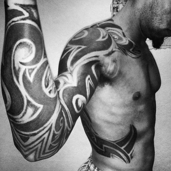 Creative Mens Full Sleeve Tattoos Tribal