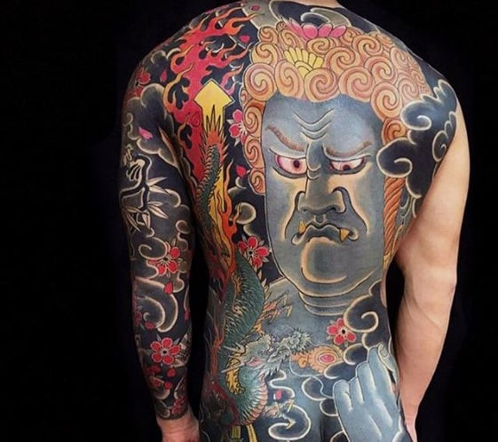 Creative Mens Japanese Back Tattoo Ideas